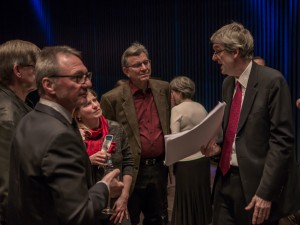 Martin Fahlenbock/ensemble recherche beim blind date musik talk im Rahmen eines Konzerts der Ensemble Gesellschaft am 5. März 2016 im Strawinsky Saal Donaueschingen